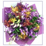 Mixed Orchid Posy